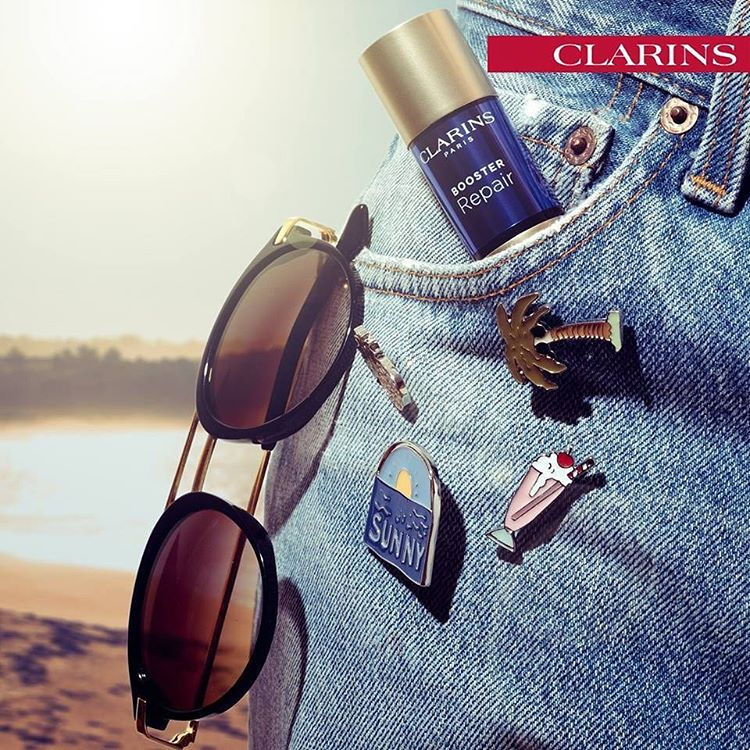Booster Repair Clarins combate a pele desidratada e irritada após muita exposição solar! #clarins #boosterrepair #tratamento #beleza #skincare #farmacialusitana #viladoconde